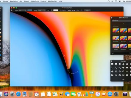 Screenshot von Pixelmator