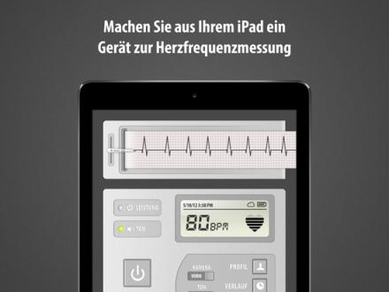 Screenshot von Kardiograph (Cardiograph): Herzfrequenz und Puls mittels- &-Kamera messen – Wie gesund ist das Herz-Kreislauf-System von Freunden und Fa