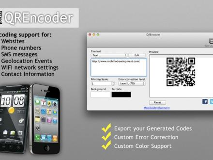 Screenshot von QREncoder