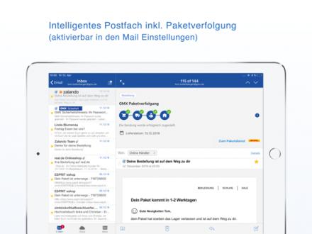 Screenshot von GMX Mail