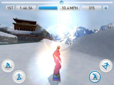 Screenshot von Fresh Tracks Snowboarding