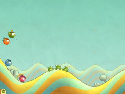 Screenshot von Tiny Wings HD