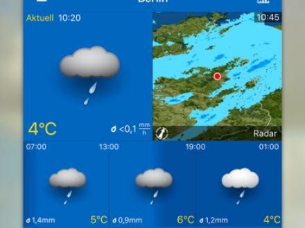 Screenshot von WeatherPro