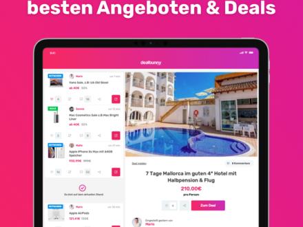 Screenshot von dealbunny.de - Schnäppchen, Gutscheine, Deals & Angebote