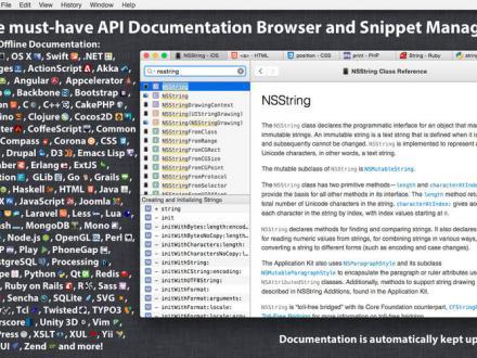 Screenshot von Dash (Docs & Snippets)
