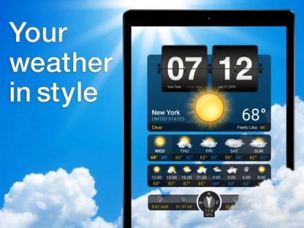 Screenshot von Wetter+