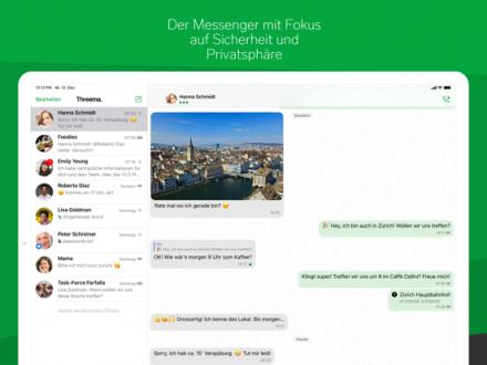 Screenshot von Threema. Sicherer Messenger