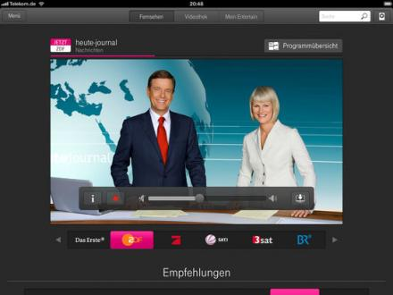 Screenshot von Entertain to go