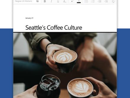 Screenshot von Microsoft Word