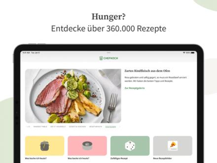 Screenshot von Chefkoch - Rezepte, Backen, Kochen, Einkaufsliste und Kochbuch