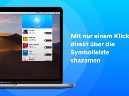 Screenshot von Shazam