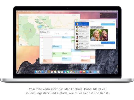 Screenshot von OS X Yosemite