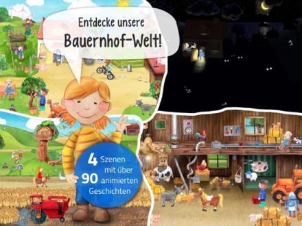 Screenshot von Mein Bauernhof - Tiere, Traktoren und Abenteuer in unserer Wimmelapp.
