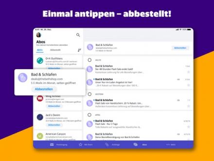 Screenshot von Yahoo Mail