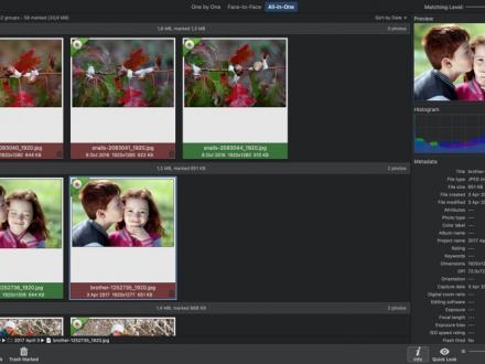 Screenshot von PhotoSweeper