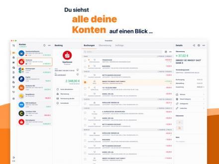 Screenshot von finanzblick - Onlinebanking