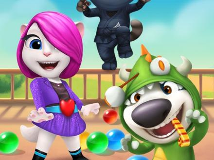 Screenshot von Talking Tom Bubble Shooter