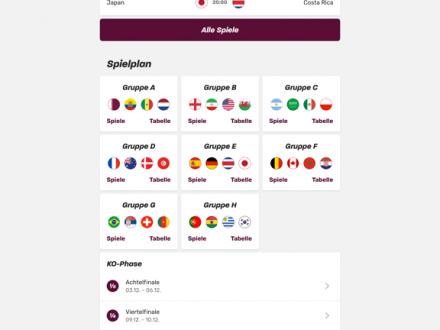 Screenshot von WM App 2018 Spielplan & News