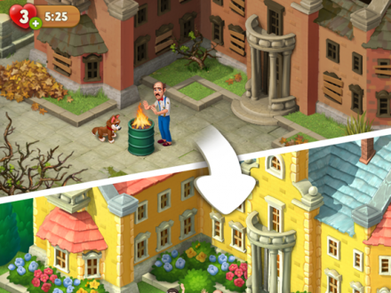 Screenshot von Gardenscapes