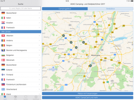 Screenshot von ADAC Camping- und Stellplatzführer 2017