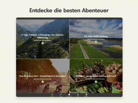 Screenshot von Komoot — Fahrrad & Wander Navi