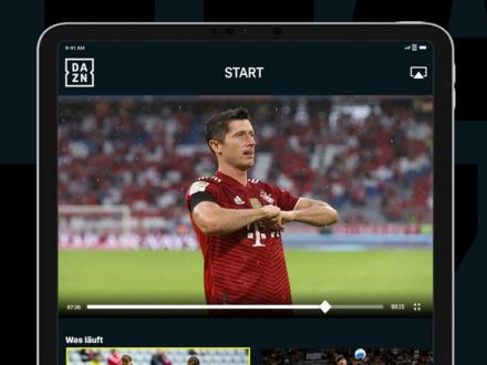 Screenshot von DAZN Sport Live Stream