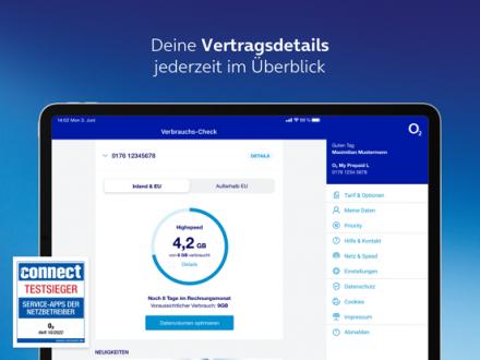 Screenshot von Mein o2
