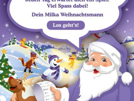 Screenshot von Milka Adventskalender 2018