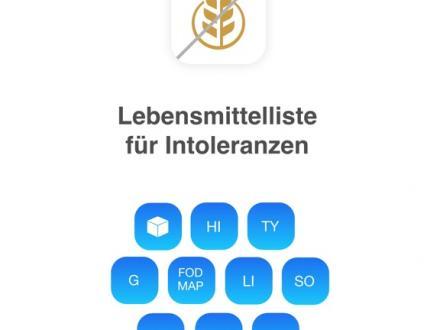 Screenshot von Intoleranzen Lebensmittelliste