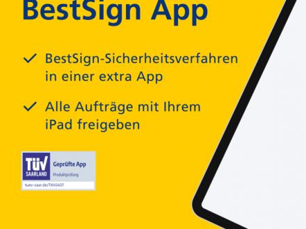 Screenshot von Postbank BestSign App
