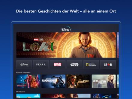 Screenshot von Disney+
