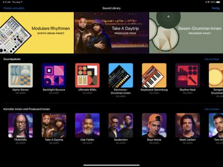 Screenshot von GarageBand