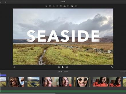 Screenshot von iMovie